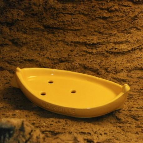 Porte savon la barquette Marseillaise jaune moutarde